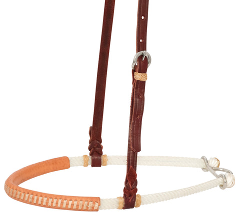 Leather Covered Double Rope Noseband