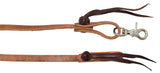 "1/2"" x 8' Cowboy Knot Harness Leather Roping Reins"