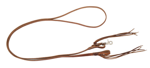 "5/8"" x 8' Pineapple Knot Harness Leather Roping Reins"