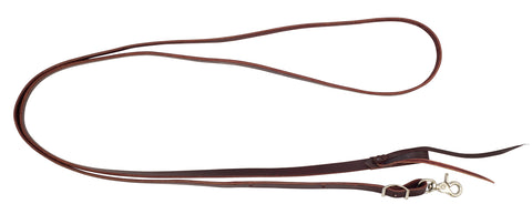 "5/8"" x 8' Latigo Leather Roping Reins With Water Loop"