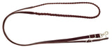 "5/8"" x 8' - 3 Plait Leather Roping Reins"