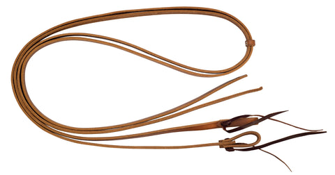 "5/8"" x 8' Harness Leather Split Reins"