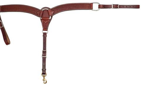 "2"" Rosewood Leather Spider Stamp Breast Collar"