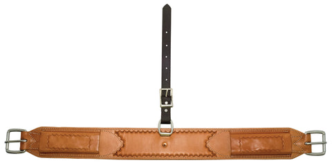 "3-1/4"" x 33-1/2"" Golden Leather Flank Cinch"