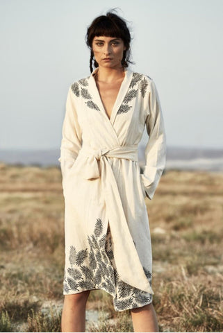 Special design Turkish Cotton/linen boho Kimono Robe