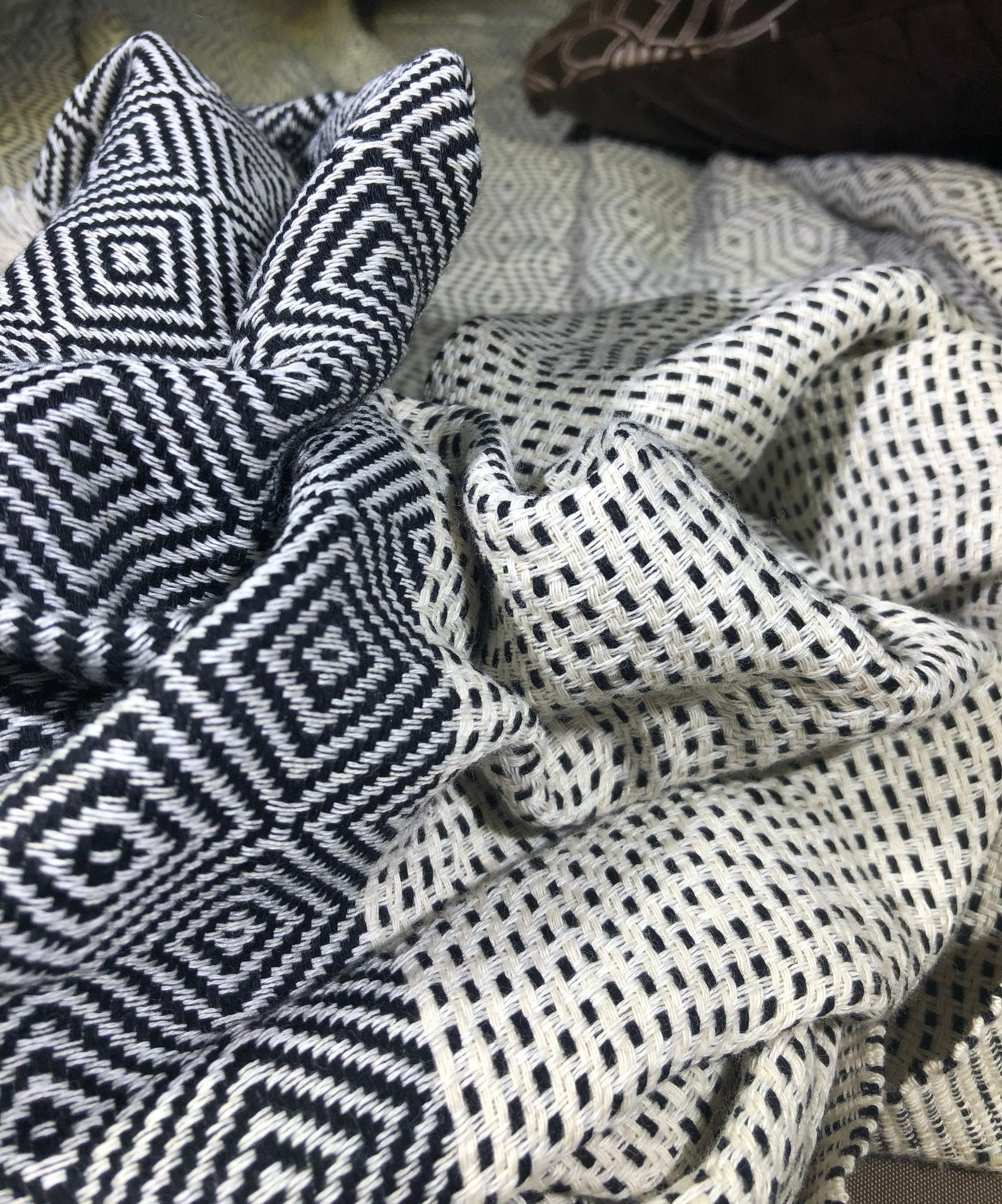 Turkish Cotton Handwoven Lightweight Queen Blanket