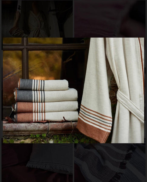 Ivory Luxury Linen/Turkish Cotton Terry Towel