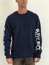 """Bird Play"" Long Sleeve ~ Navy Blue"