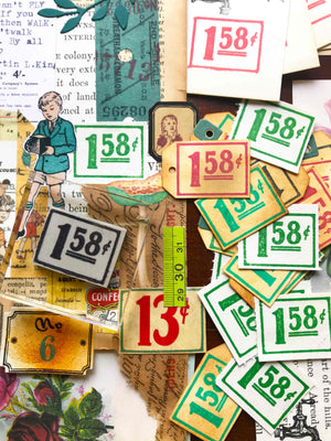 'Vintage Price Ticket' Mini Rubber Stamp by Mic Moc from micmoc.com