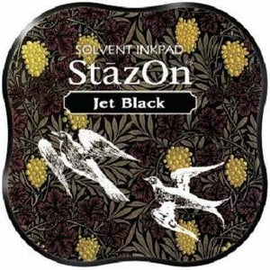 Staz On Midi Ink Pad - Jet Black from micmic.com at Mic Moc Curated Emporium