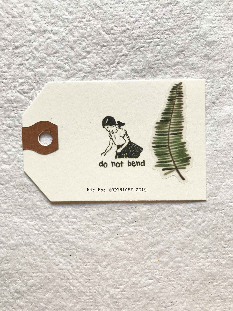'Do Not Bend' Wood Rubber Stamp - (Recycled Wood) by Mic Moc at micmoc.com at Mic Moc