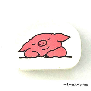 Kodomo No Kao Piggy Stamp 001 from micmoc.com at Mic Moc Curated Emporium