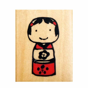 Kodomo No Kao Tiny Stamp - Japanese Kokeshi Doll from micmoc.com at Mic Moc