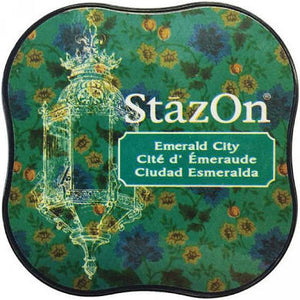 Staz On Midi Ink Pad - Emerald City from micmoc.com at Mic Moc Curated Emporium