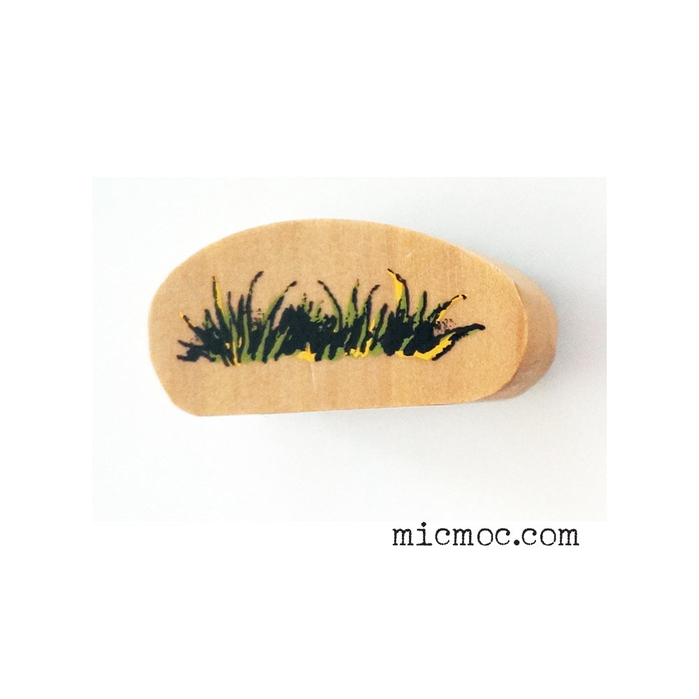 Kodomo No Kao Woodland-themed Stamp - Grass Patch from micmoc.com at Mic Moc Curated Emporium