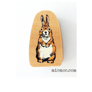 Kodomo No Kao Woodland-themed Stamp - Hare from micmoc.com at Mic Moc Curated Emporium