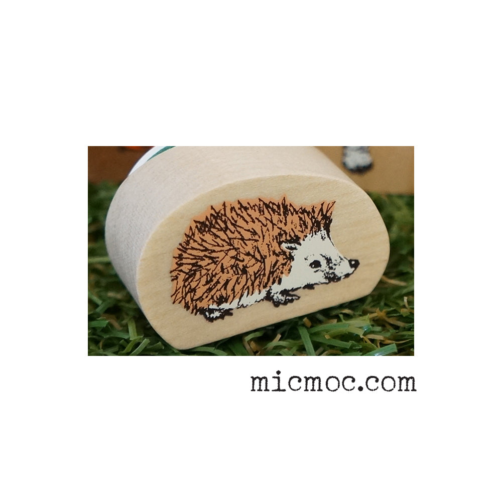 Kodomo No Kao Woodland-themed Stamp - Hedgehog from micmoc.com at Mic Moc Curated Emporium