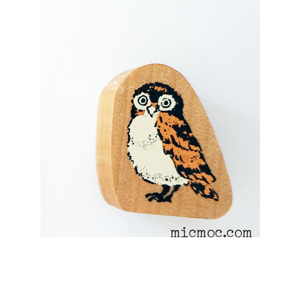Kodomo No Kao Woodland-themed Stamp - Owl from micmoc.com at Mic Moc Curated Emporium