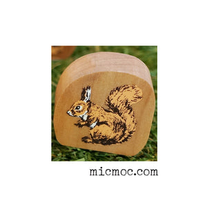 Kodomo No Kao Woodland-themed Stamp - Squirrel from micmoc.com at Mic Moc Curated Emporium