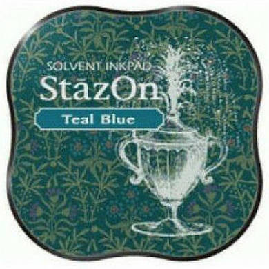 Staz On Midi Ink Pad - Teal Blue from micmoc.com
