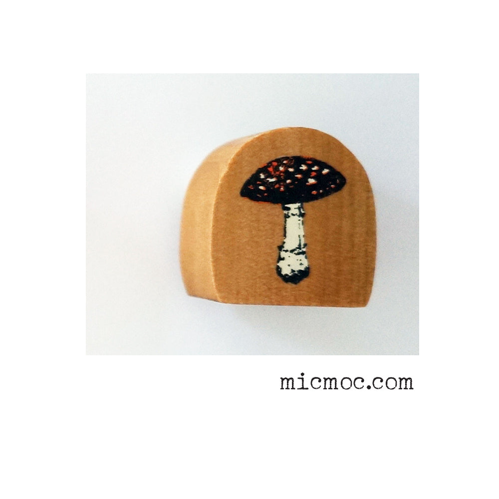 Kodomo No Kao Woodland-themed Stamp - Toad Stool from micmoc.com at Mic Moc Curated Emporium