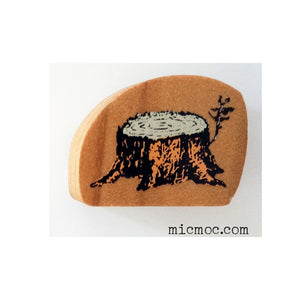 Kodomo No Kao Woodland-themed Stamp - Tree Stump  from micmoc.com at Mic Moc Curated Emporium