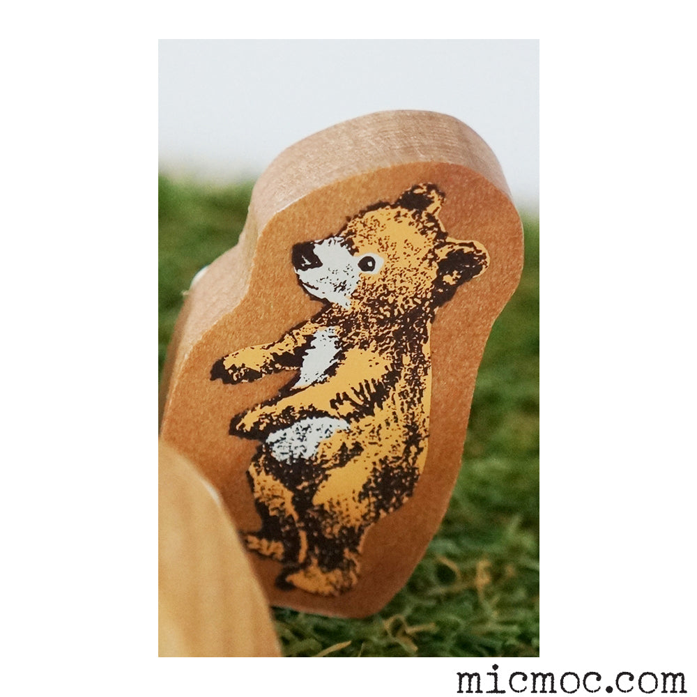 Kodomo No Kao Woodland-themed Stamp - Bear  from micmoc.com at Mic Moc Curated Emporium
