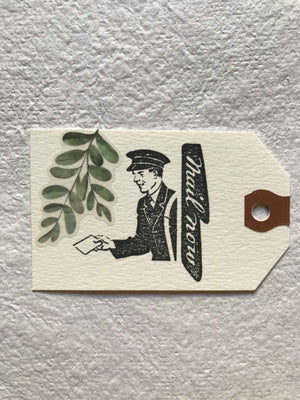 'Mail Now' Vintage Postie Rubber Stamp by Mic Moc -Vintage Post by micmoc.com at Mic Moc