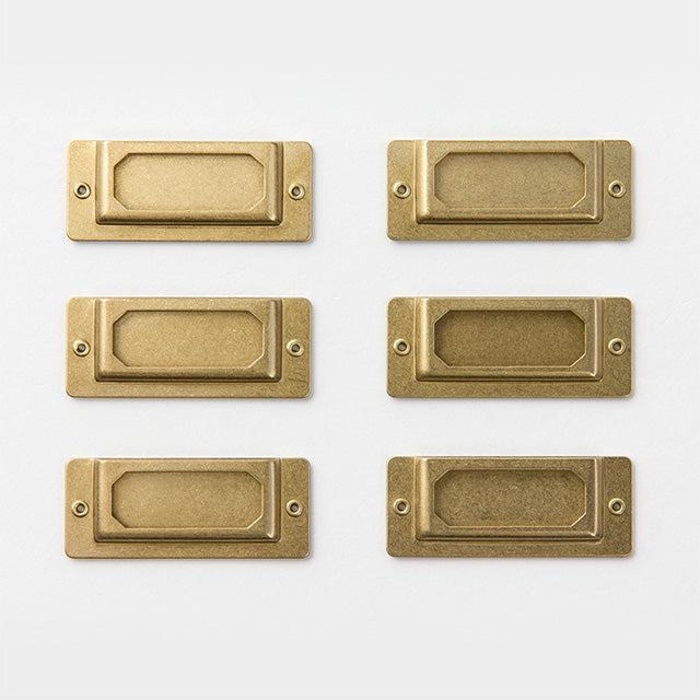 Traveler's Company Brass Label Plate - Set of 6 from micmoc.com at Mic Moc Curated Emporium