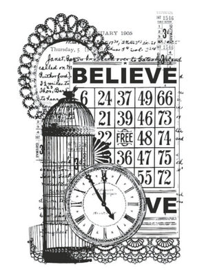 Kaisercraft Clear Stamps - Vintage - Believe CS832 from Mic Moc at micmoc.com