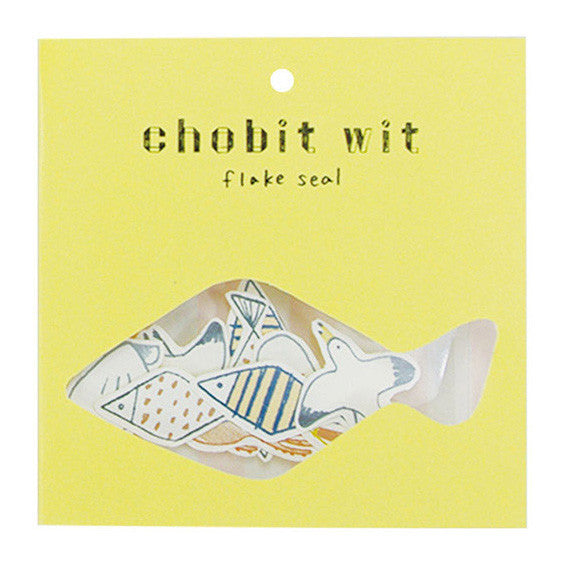 Chobit Wit Die-cut Sticker Set - Sea by micmoc.com at Mic Moc Curated Emporium