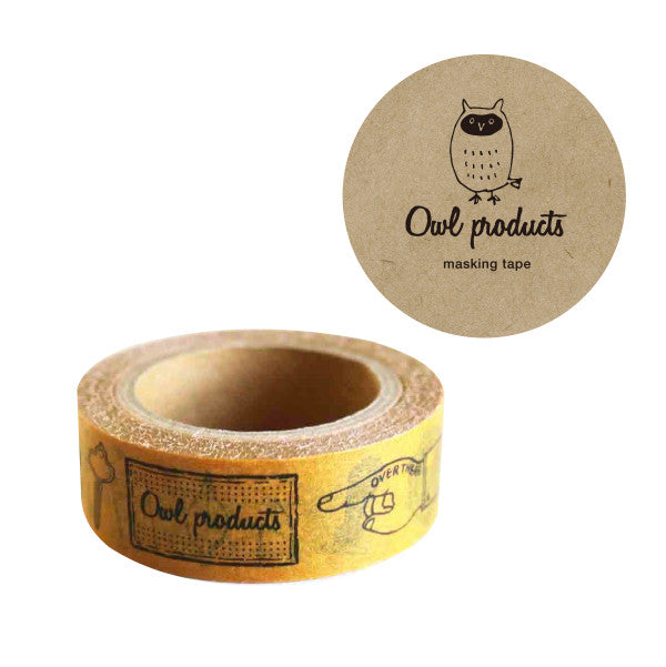 Owl Products Washi Tape - Stationery from micmoc.com at Mic Moc Curated Emporium