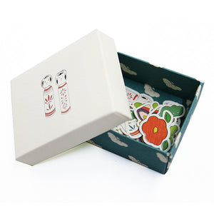Wawomon Boxed Sticker Set - Kokeshi Dolls