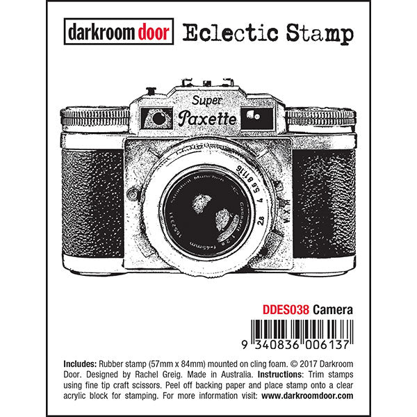 Darkroom Door Cling-Mount Eclectic Stamp - Camera at micmoc.com at Mic Moc Curated Emporium