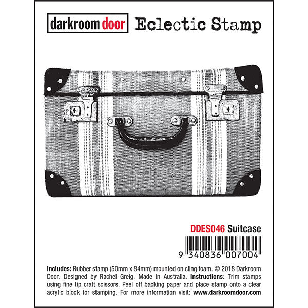 Darkroom Door Cling-Mount Eclectic Stamp - Suitcase at micmoc.com at Mic Moc Curated Emporium