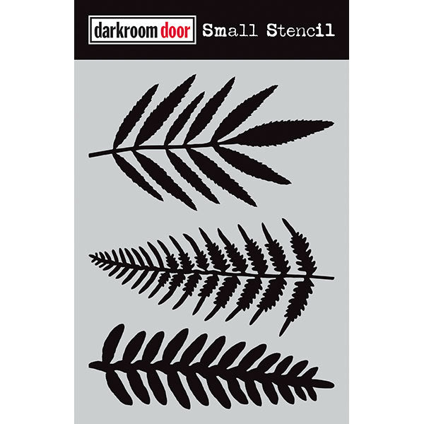 Darkroom Door Small Stencil - Ferns at micmoc.com at Mic Moc