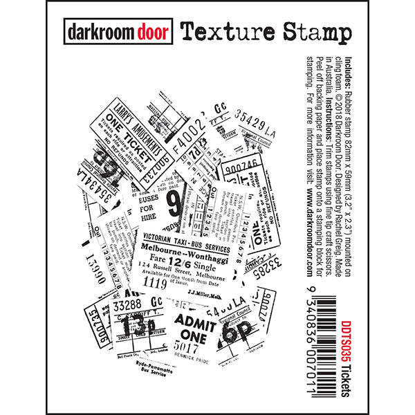 Darkroom Door Cling-Mount Texture Stamp - Tickets at micmoc.com at Mic Moc Curated Emporium