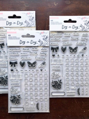 'Day-to-Day' 69 Pc Clear Stamp Set by Maggie Holmes - Crate Paper from micmoc.com