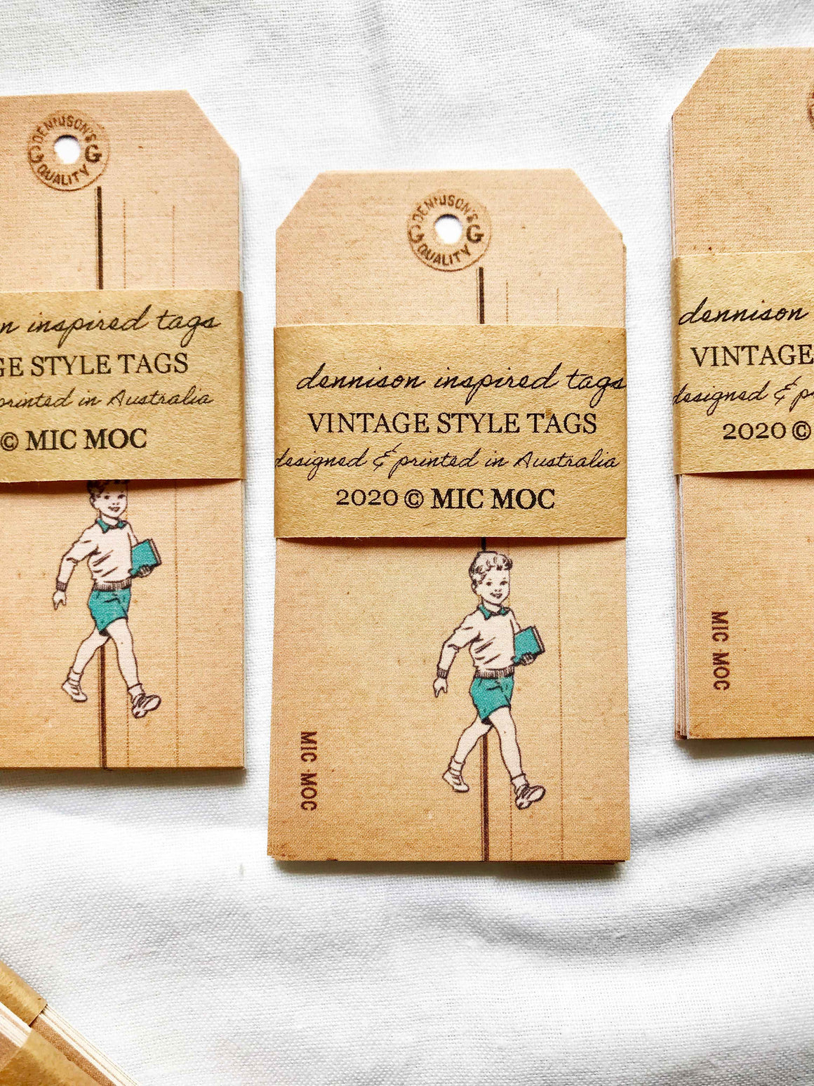 Vintage Style Tag  - VST 001 'Dennison-inspired Tag' from micmoc.com