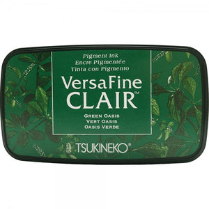 VersaFine Clair 'Dark' Pigment Ink Pad - Green Oasis from micmoc.com at Mic Moc Curated Emporium