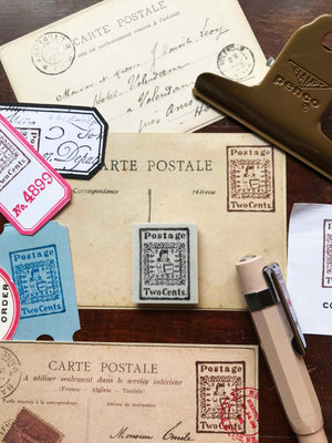 'Gift' Postage Stamp Rubber Stamp by Mic Moc from micmoc.com