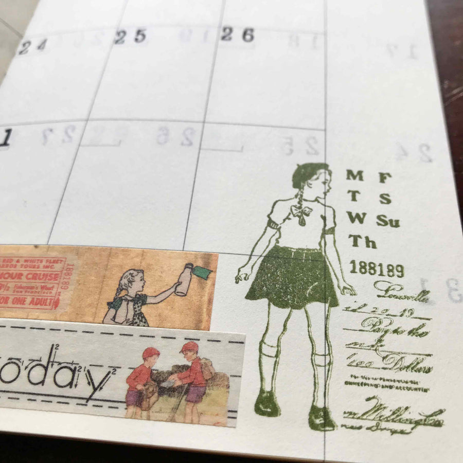 'Happy Days' Weekly Dater Rubber Stamp by Mic Moc from micmoc.com