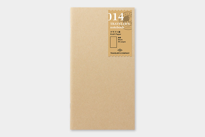 Traveler's Notebook Refill - 014 Kraft Paper Notebook (Regular Size) from micmoc.com at Mic Moc Curated Emporium