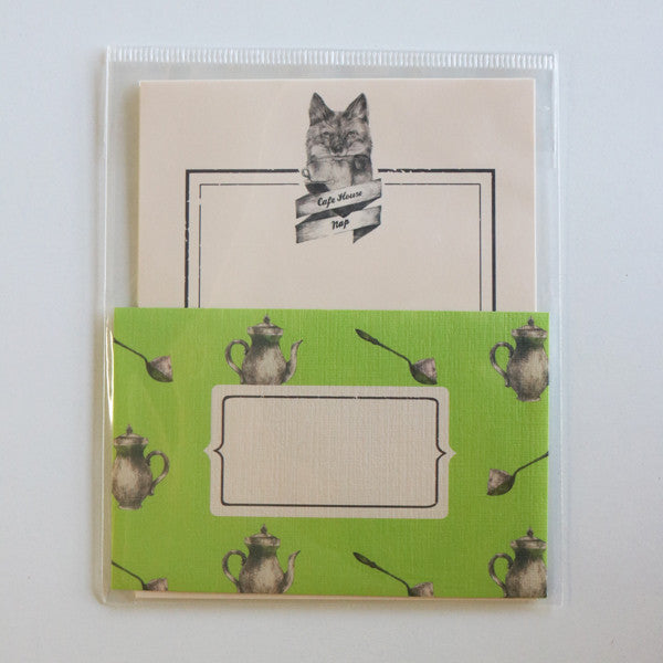 Mini Letter Writing Set - Cafe Fox from micmoc.com at Mic Moc Curated Emporium
