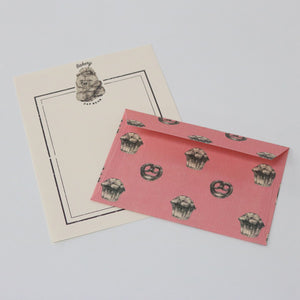 Mini Letter Writing Set - Bakery Bear from micmoc.com at Mic Moc Curated Emporium