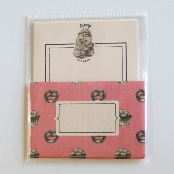 Mini Letter Writing Set - Bakery Bear