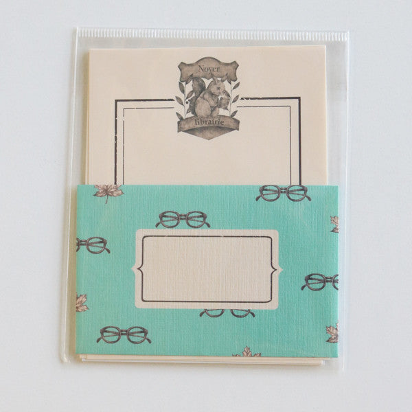 Mini Letter Writing Set - Library Squirrel
