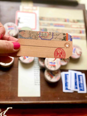 Little Mail Washi (Printed)Tape WT007LM - by Mic Moc from micmoc.com