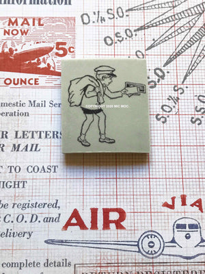 'Little Post' Rubber Stamp by Mic Moc from micmoc.com