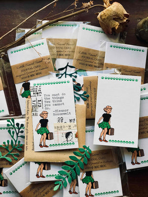 Green Label Vintage Journal Card Set  - GJC006 - 'Little Travel Trunk' (Blank) from micmoc.com at Mic Moc